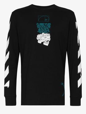 Off-White Drip Arrow Print Cotton Sweatshirt